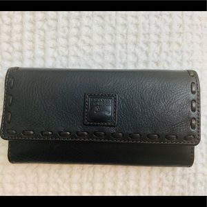 Dooney & Bourke Florentine Check Book Wallet Black